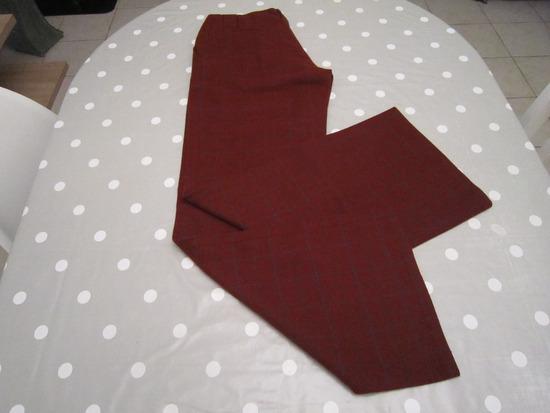 Crvene karirane zimske hlače