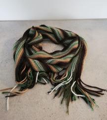 Zeleno/smeđe nijanse šal