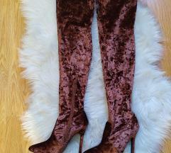 Velvet čizme preko koljena(100kn)