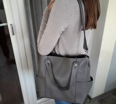 NOVA siva kožna torba iz Graza