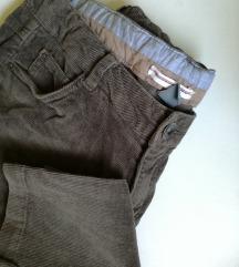 ZARA maslinaste samtane hlače