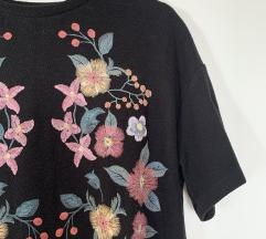 Zara knit cvjetna haljina