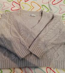 Zara sivi pulover L