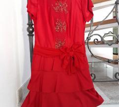 Svečana dizajnerska crvena haljina MarinaDesign