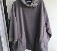 Ulla Popken vel60-62 3/4 rukav NOVI flis pulover
