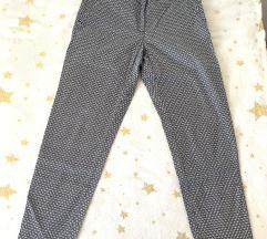 H&M hlače s uzorkom modre boje