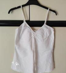 Bijeli ljetni top majica bez rukava