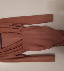 roza bodycon haljina