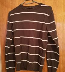 H&M smeđa majica dugih rukava