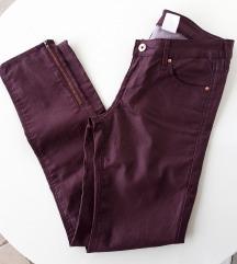 H&M bordo hlače ( vel. 28 )❄ free pt ❄