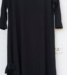 Wgw crna haljina sa volanima uni
