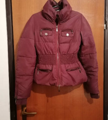 Topla zimska kratka bordo jakna
