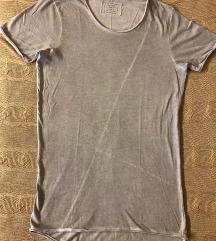 Siva long fit majica