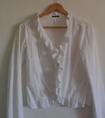 SISLEY bijela košulja s volanom