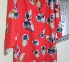 Crvena print haljina%