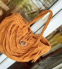 NOVA oker-žuta heklana torba