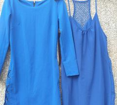 %%LOT od 3 X plavih haljinica/tunika  M