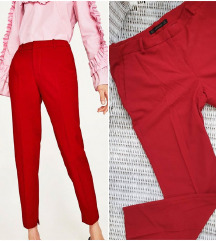 ZARA crvene hlače od odijela / poslovne