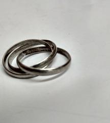 Vintage ruski prsten 3 u 1, srebro