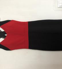 Crno/crvena haljina vel S