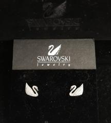 Swarovski naušnice labud
