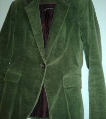 Zara baršunasti sako zelene boje