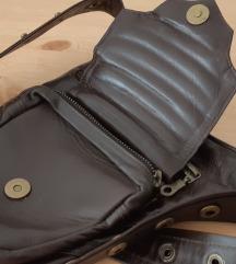 SNIŽENO Unisex pojas remen biker kožna torba smeđa