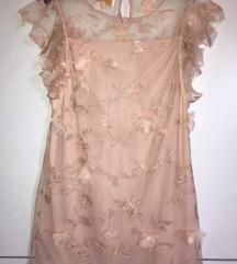Mohito svečana roza haljina sa 3D cvjetovima