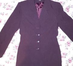 Tamno ljubičasti vintage sako