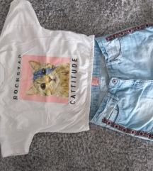 Lot majica Zara i hlace jeans Alives br. 152