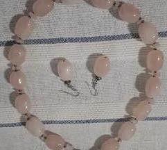 Komplet ogrlica i naušnice ručni rad