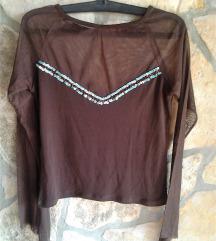 Khaki til majica sa našivenim ljuskicama