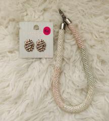 Komplet naušnice i ogrlica