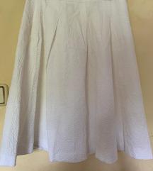 Dizajnerska bijela suknja
