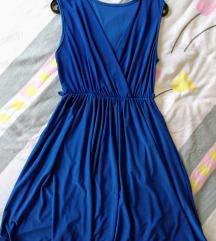 Uni vel. kraljevsko plava haljina