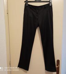Sjajne crne poslovne hlače