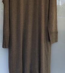 Zara duga maslinasta haljina