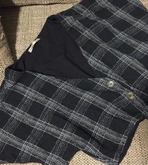 Karirana haljina (top i midi suknja)