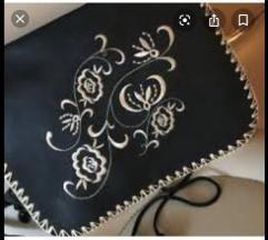 OASIS  kožna torba s aplikacijom na preklop
