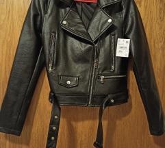 Nova crna jakna-umjetna koza