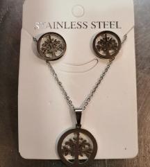Ogrlica i naušnice od čelika