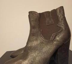 Kožne metalik čizme
