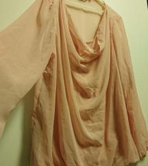 Nabrana bluza puder roza