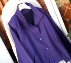BY Almensita ljubičasta vunena jakna i suknja L