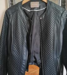 Kožna crna jakna orsay, kao nova
