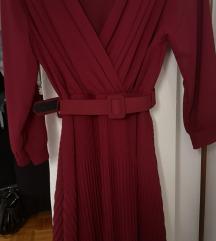 Bordo haljina nova S-M