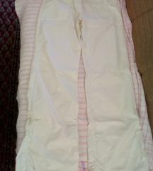 Duge bijele trapez hlače
