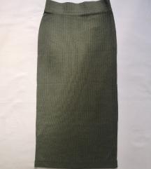 Uska maslinasto zelena suknja