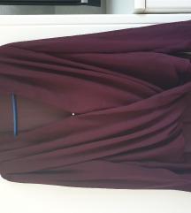 H&M ljubičasta bluza s prozirnim rukavima