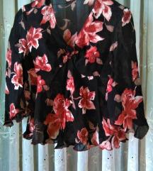 Floral kimono shirt sa volanima